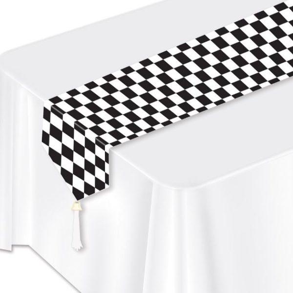 Black & White Checked Table Runner