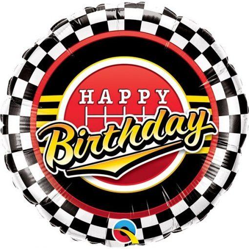 Happy Birthday Racing Themed Party Balloon