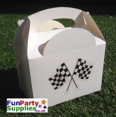 Racing Car Themed Grand Prix Flag Food Box