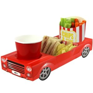 Red Sports Car Combi Food Tray