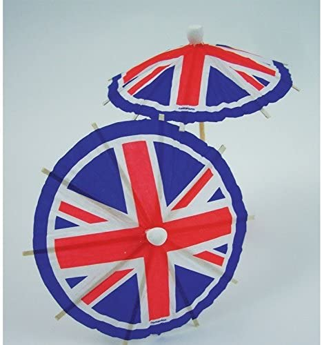 Union Jack Cocktail Umbrella Picks