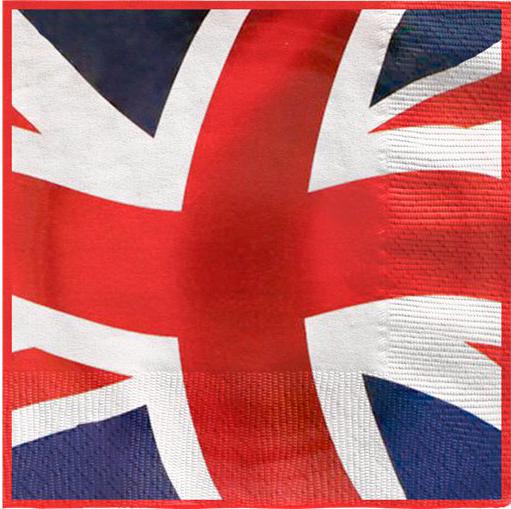 Union Jack Flag Printed Paper Napkins