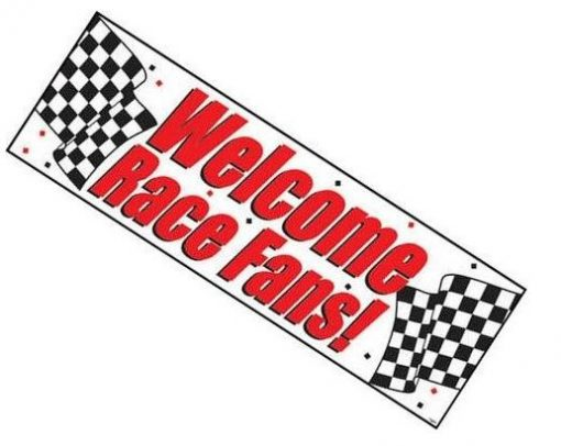 Welcome Race Fans Party Plastic Banner Decoration